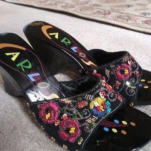 Carlos Santana slides sandals